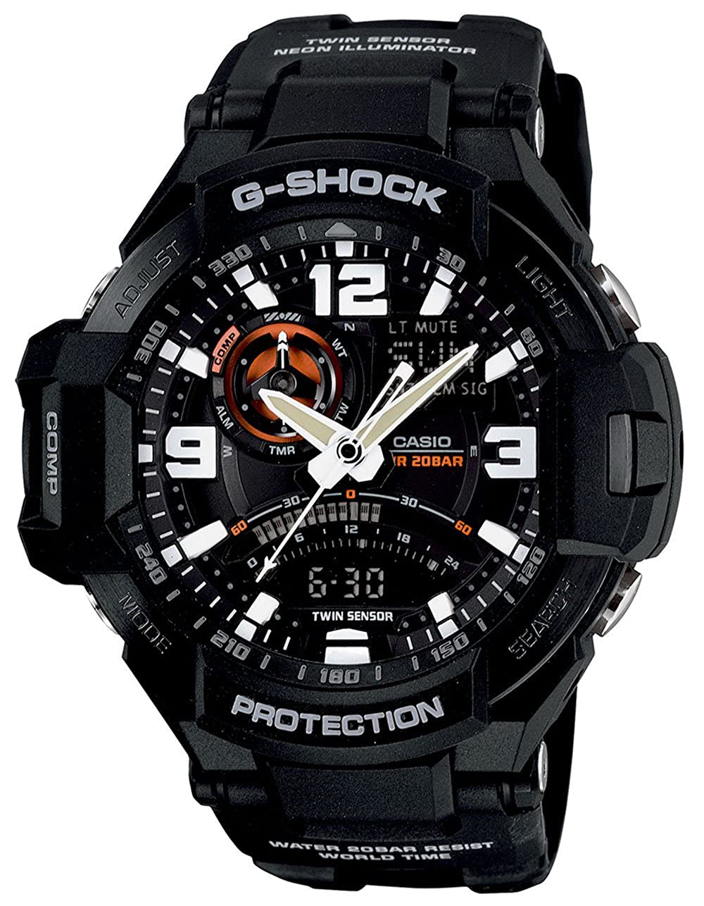 Casio Men s GA1000 Gravity Master G-Shock Aviation Watch