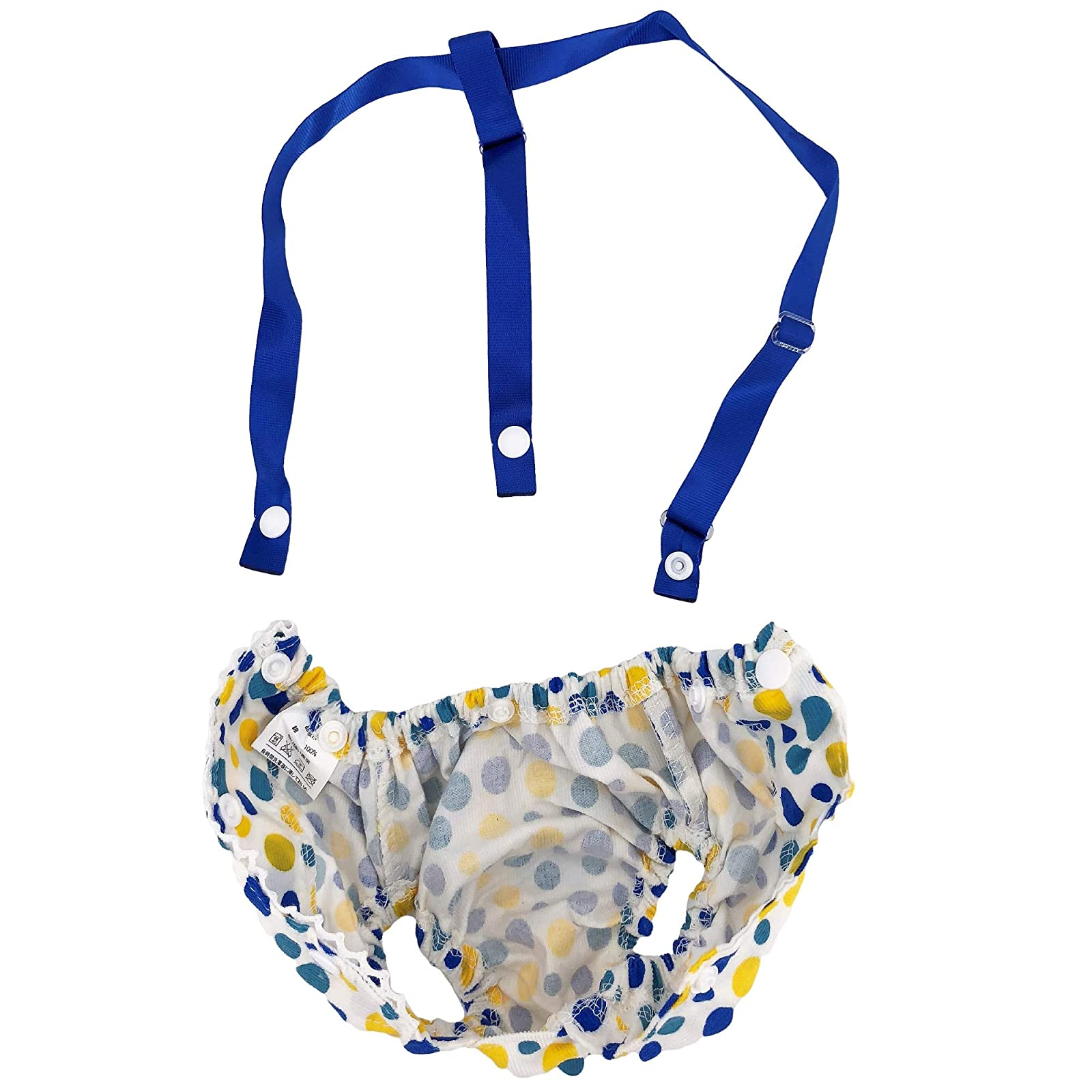 FunnyDogClothes Female Dog Diaper With Suspenders COTTON - 4