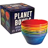 Planet Bowls Set - Eight 5 1/2 Inch Melamine Astronomy Bowls - By The Unemployed Philosophers Guild