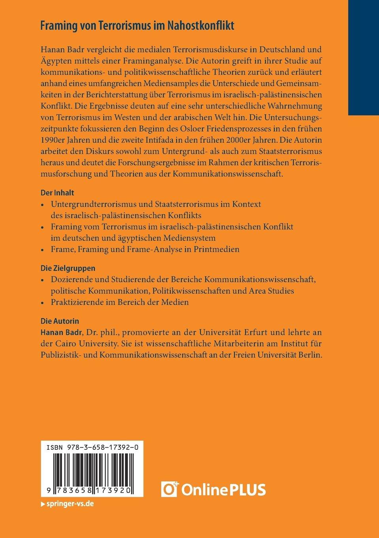 Framing von Terrorismus im Nahostkonflikt: Eine Analyse deutscher ...