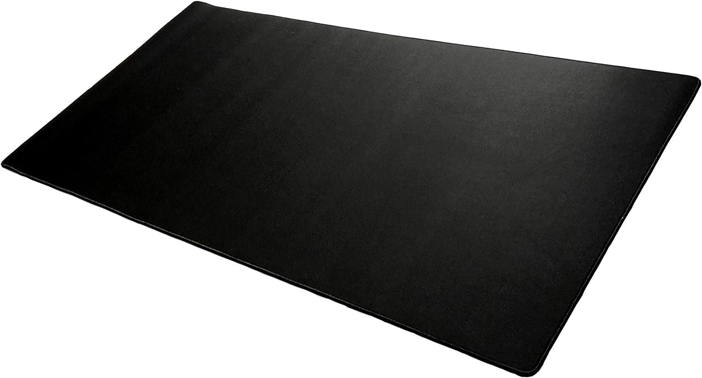 "Extended Mega Size Custom Professional Gaming Mouse Pad - Anti Slip Rubber Base - Stitched Edges - Large Desk Mat - 48"" x 24"" x 0.16"" (Mega, All Black/No Logo)"