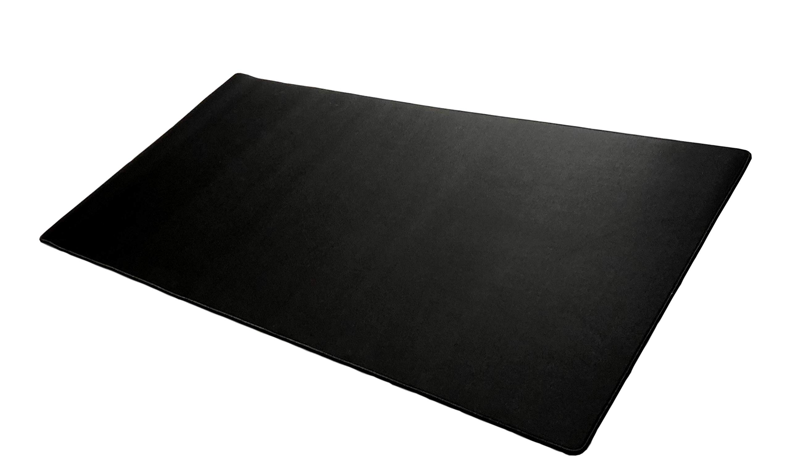 Extended Mega Size Custom Professional Gaming Mouse Pad - Anti Slip Rubber Base - Stitched Edges - Large Desk Mat - 48'' x 24'' x 0.16'' (Mega, All Black/No Logo) by Warehouse 151