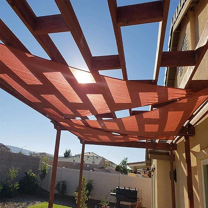 ZHENN Toldo Vela Triangular Rojo Vela de Sombra Protección UV ...