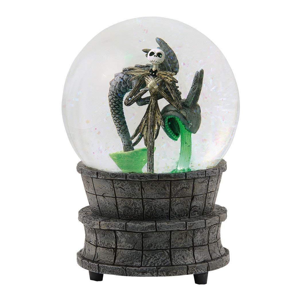 Department 56 Disney Classic Brands Nightmare Before Christmas Jack in The Fountain Globe Waterball, 6.25'' Snowglobe Multicolor
