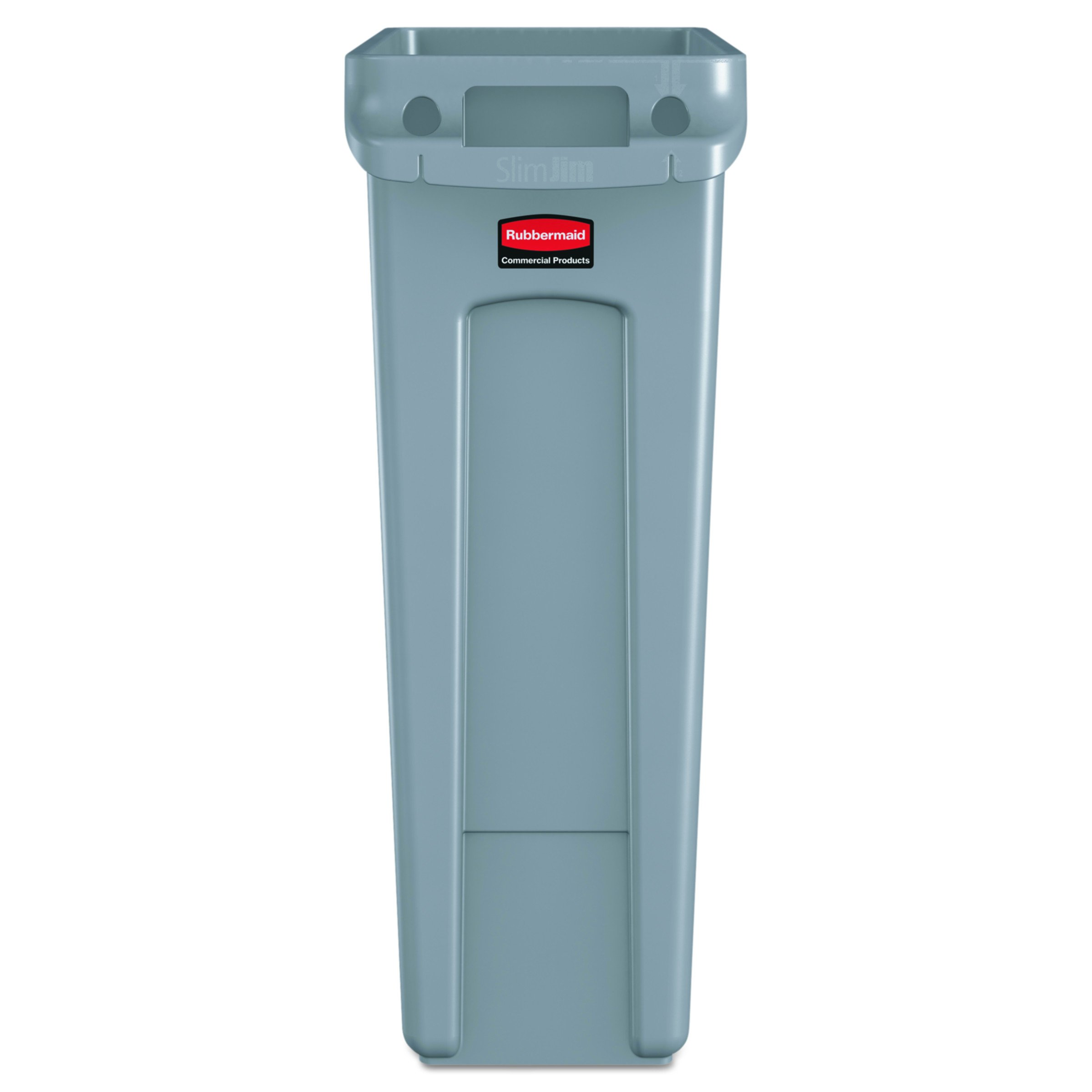 Rubbermaid Commercial Slim Jim Receptacle with Venting Channels ...