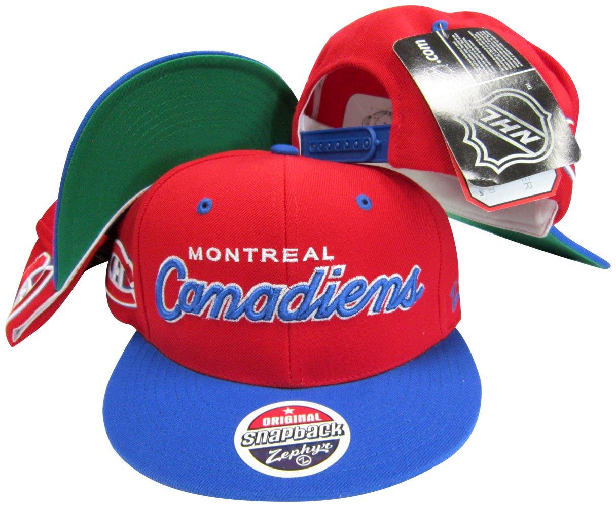 ZHATS Washington Capitals Script White//Blue Two Tone Plastic Snapback Adjustable Plastic Snap Back Hat//Cap