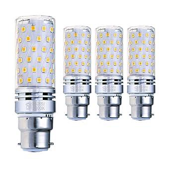 Hzsane B22 Bombilla de Maíz LED 15W, 3000K Blanco Cálido, 120W Incandescente Bombillas Equivalentes
