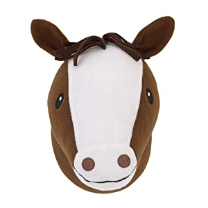 Little Love by NoJo Plush Fleece Brown and White Horse Head Wall Décor
