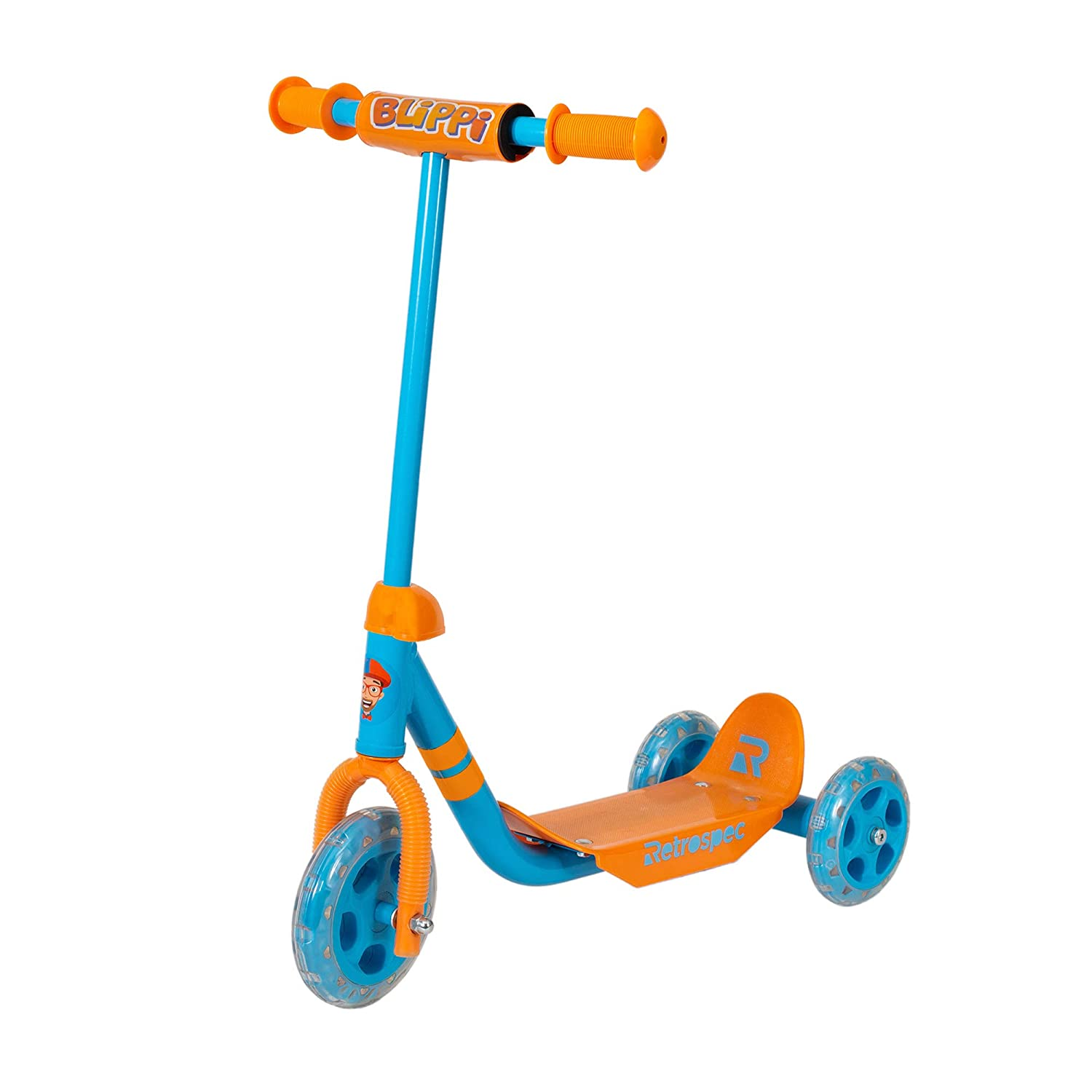Retrospec Chippy 3-Wheel Kick Scooter for Kids Toddlers PU Wheels and Extra Wide Deck Perfect for Children Girls and Boys with Padded Handlebars