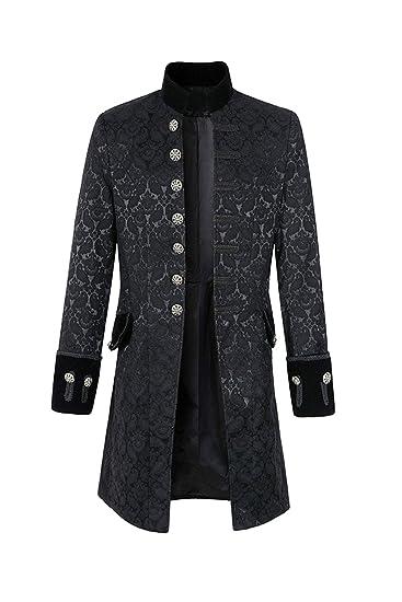 tianxin Chaqueta Gotica de la Capa de Steampunk de la Vendimia de los Hombres Traje del Vestido Victoriano