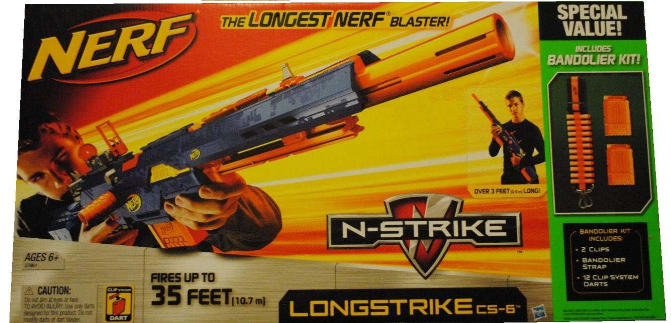 Nerf N - Strike Longstrike cs-6 with 2クリップ& 12ダーツExtra B0049XPITM
