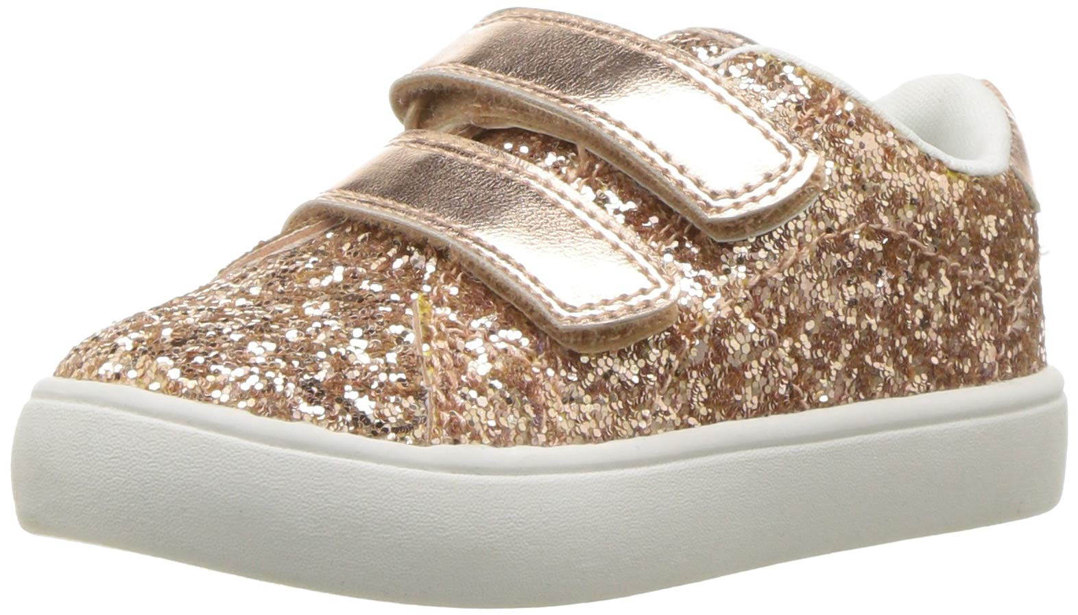 carter's Girls' Andee2 Rosegold Casual Sneaker, Rose Gold, 11 M US Little Kid