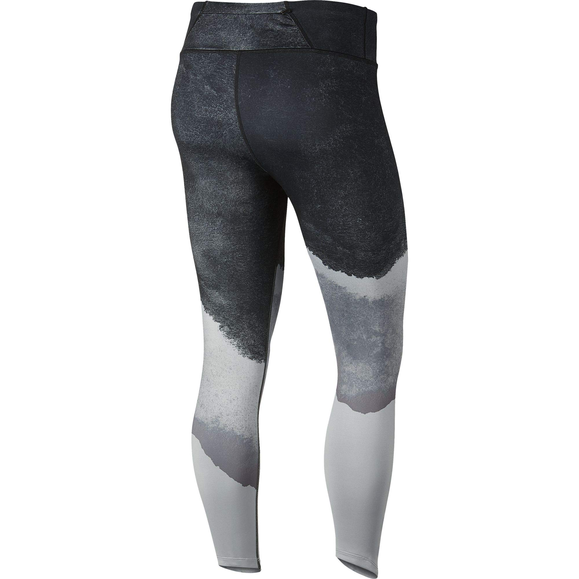 Nike Womens Epic Lux Watercolor Running Tights Wolf Grey/Cool Grey/Black/Reflect Gold XS by Nike (Image #2)