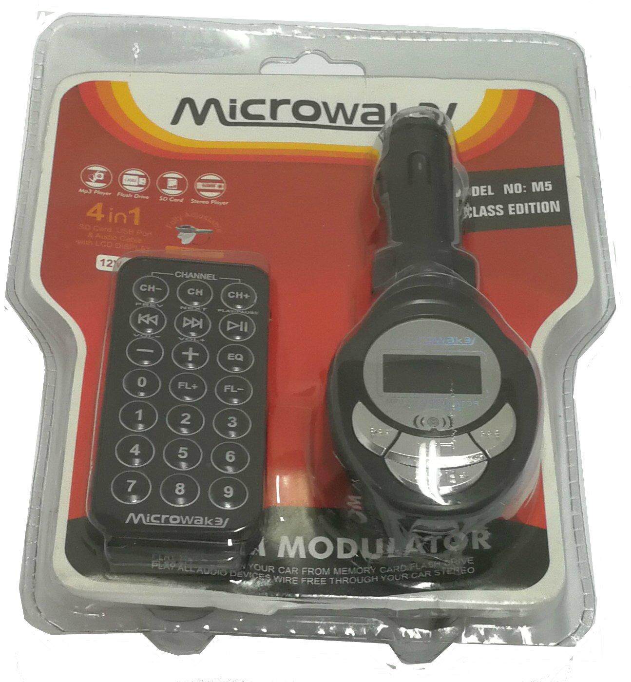 SUKRAGRAHA Bluetooth FM Transmitter for Car Wireless Radio Transmitter Dual USB w Remote Control 4352718226 Power Off Switch Music Player