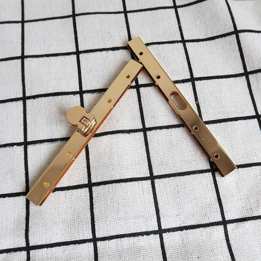 Bag Supplies for Purse Making//Bag Making//Leather Craft DIY LoveinDIY Practical Clasp Lock Packs 4.5 Inch Metal Purse Frame Kiss Clasp Lock Comfortable Grip