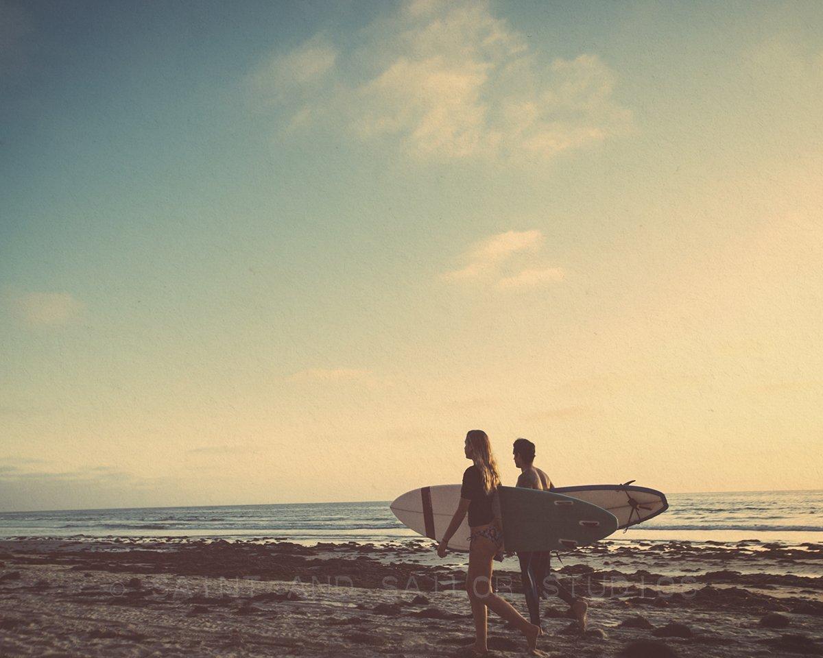 Amazon.com: Surf Beach Themed Fine Art Photography Set of 9 on Photo ...