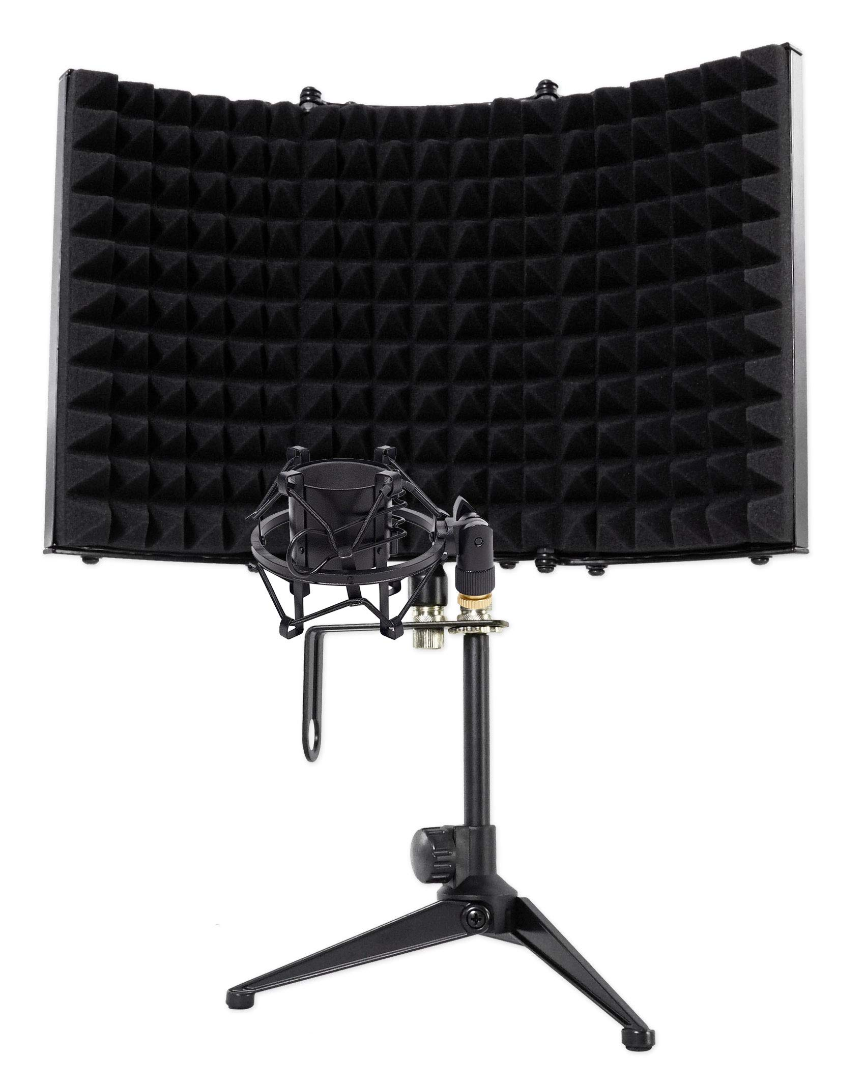 Rockville RMF1 Microphone Isolation Shield w/Sound Dampening Foam+Shockmount