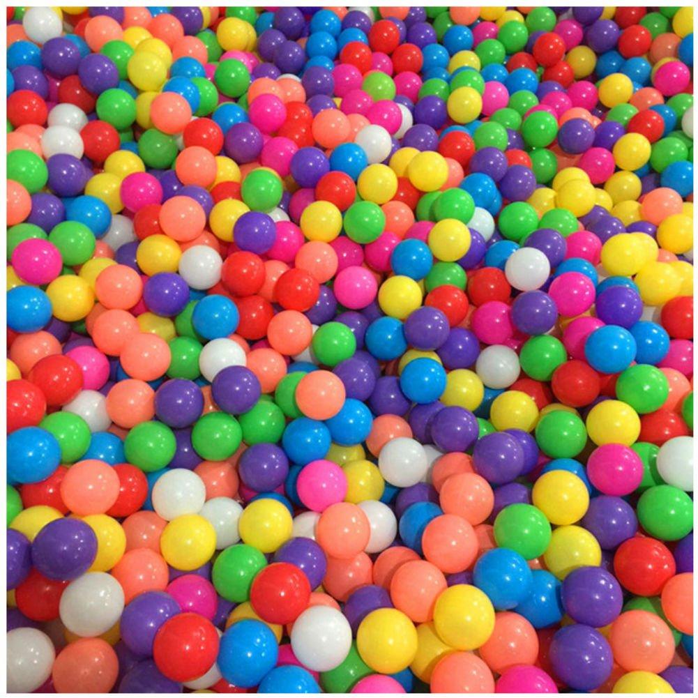 Stillshine 50 bunte Bälle / 100 bunte Bälle Farben-Ozean-Kugel, Kugel-Mehrfarben-Durchmesser 5.5cm / 7cm, Kindspielwaren-Swimmingpool-Farben-Plastikkugeln im Kinderspiel-Baby-Geschenk