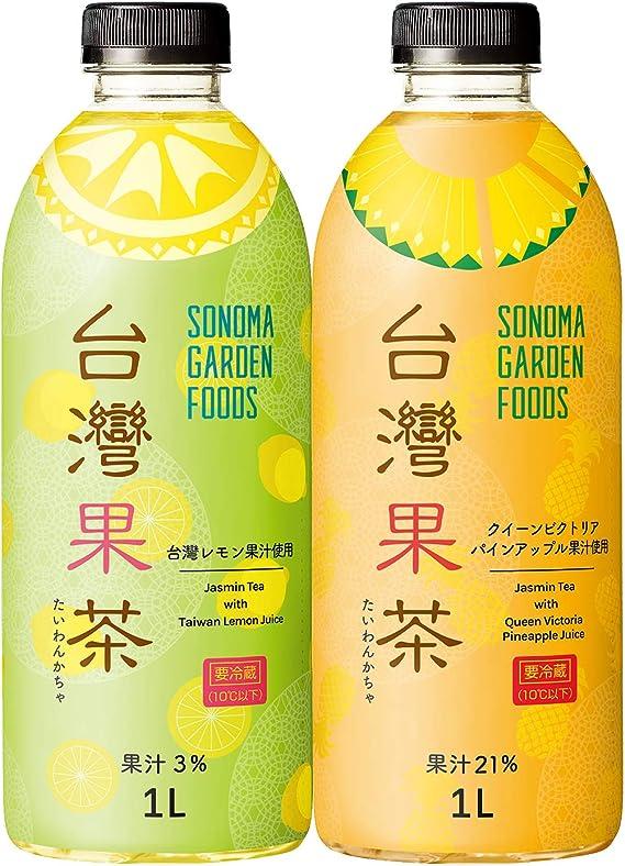 台灣果茶 フルーツティー 台湾レモン & クイーンヴィクトリア パイナップル フレーバー【要冷蔵 /1L2種セット】