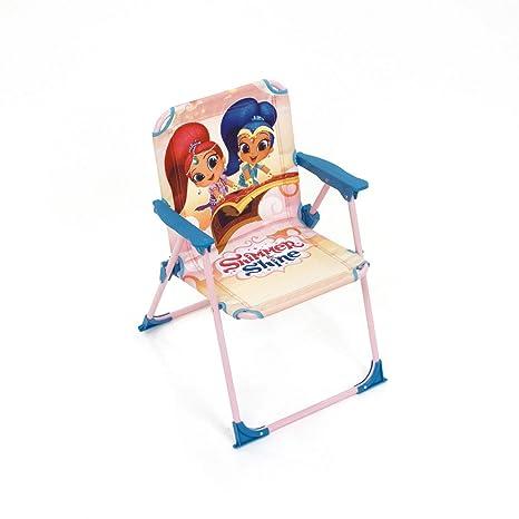 ARDITEX Silla Plegable para niños bajo Licencia Shimmer & Shine (Metal, Tela, 38 x 32 x 53 cm