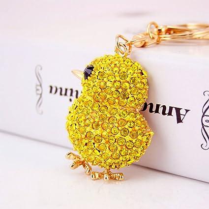 Amazon.com   Jzcky Shzrp Cute Yellow Chicken Shape Crystal ... 4c84aca98c