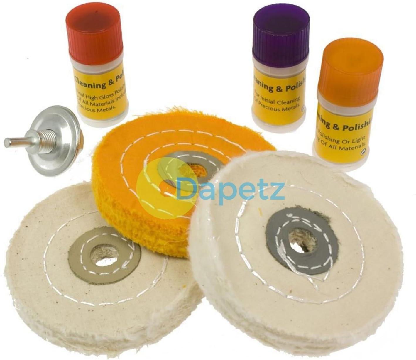 7pc Hard Metal Polishing Wheel Set