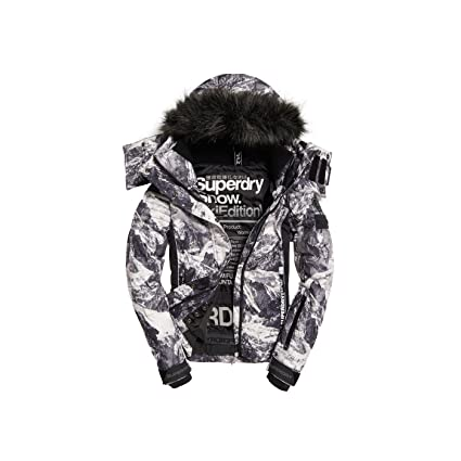 Superdry Snow búfer Jacket W Cliff Face/Black X-Small