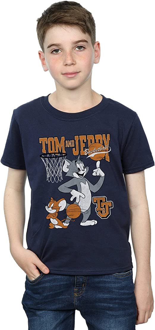 Absolute Cult Tom and Jerry Niños Spinning Basketball Camiseta ...