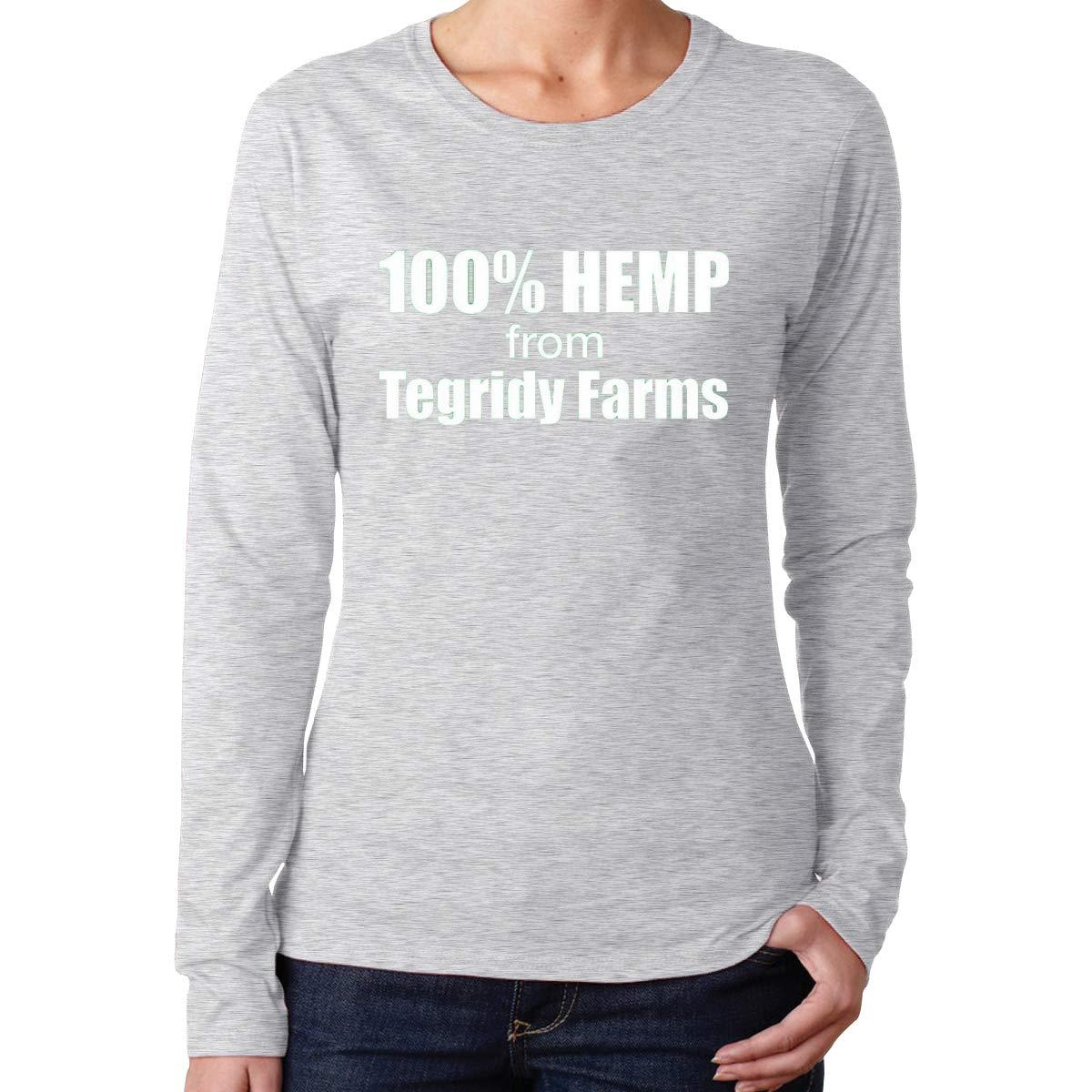 Fingertip Fashion 100 Hemp From Tegridy Farms Long Vintage Sleeve Gray Tshirts