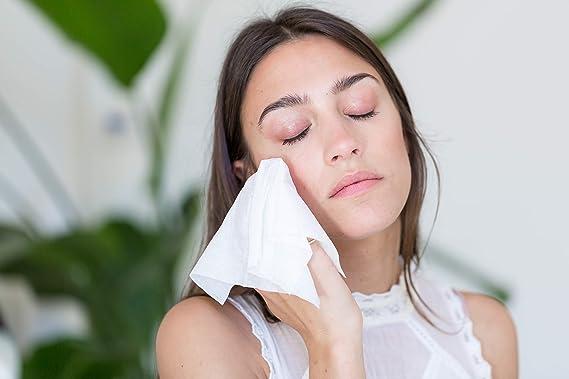 Ogee - Toallitas desmaquillantes diarias para la cara - Limpiador facial orgánico y natural - Toallitas exfoliantes con alfa hidroxiácidos - 30 toallitas ...