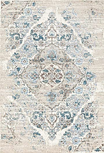 4620 Distressed Cream 8'9″x12'6″ Area Rug Carpet Large New