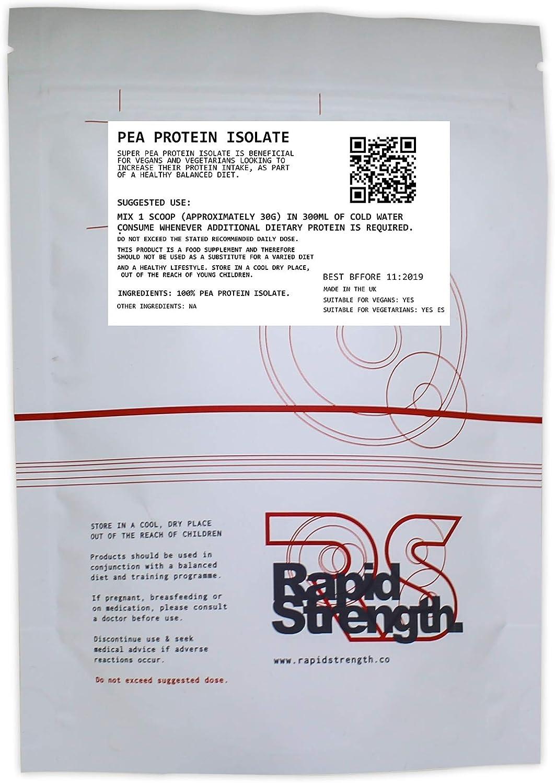100g Pure 100% Pea Protein PRO Isolate Non-GMO HIGH Protein Vegan USP Grade