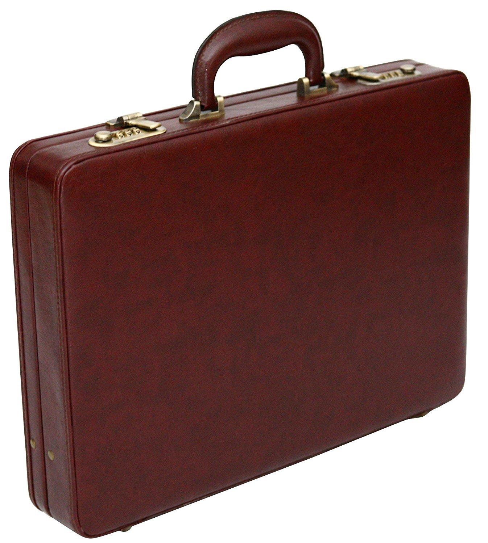 Mallette ultrafine - style business - PU imitation cuir - Marron