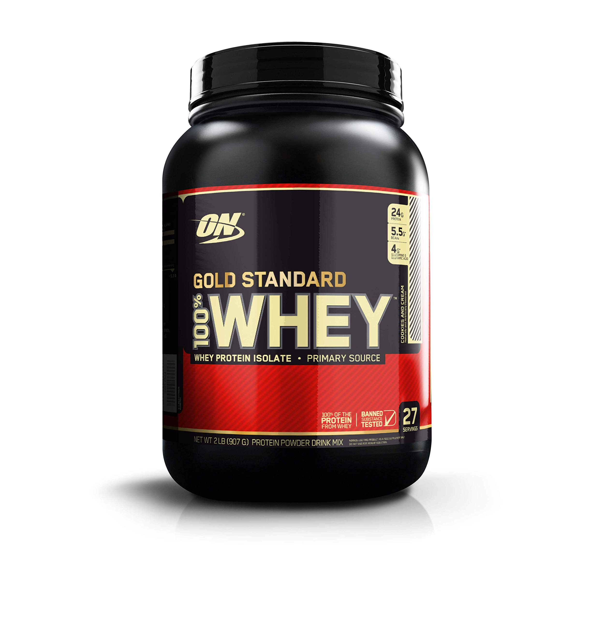 OPTIMUM NUTRITION GOLD STANDARD 100 Whey Protein Powder Cookies And Cream 185 Pound