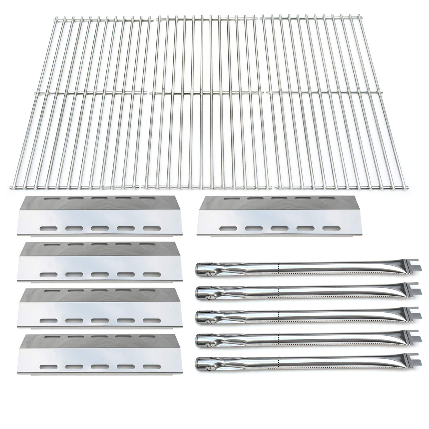 Direct store Parts Kit DG210 Replacement Ducane 30400042,30400043,30558501 Gas Grill Burners,Heat Plates,Cooking Grid (SS Burner + SS Heat Plate + Solid Stainless Steel Cooking Grid)