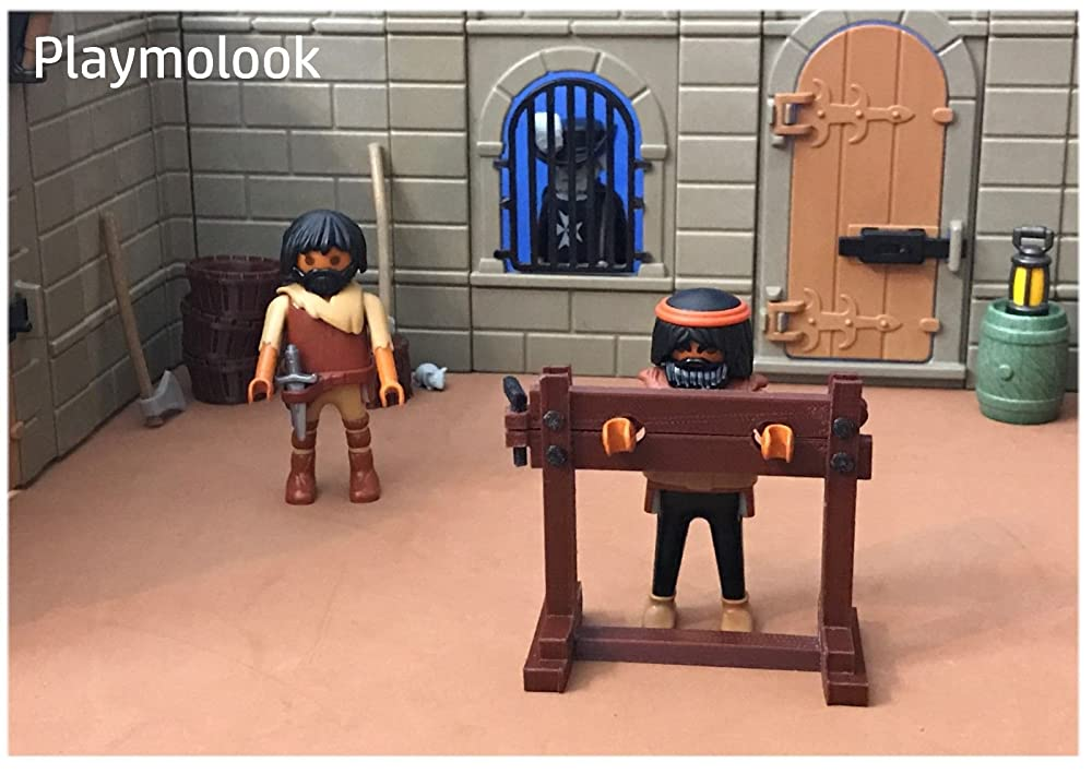 Cepo Medieval miniatura escala playmobil, impresión 3D - Figuras ...
