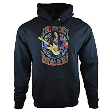e8f917ba05e Purple Haze Jimi Hendrix Men s Hoodie Voodoo Child Pullover Sweatshirt  (Small) Black
