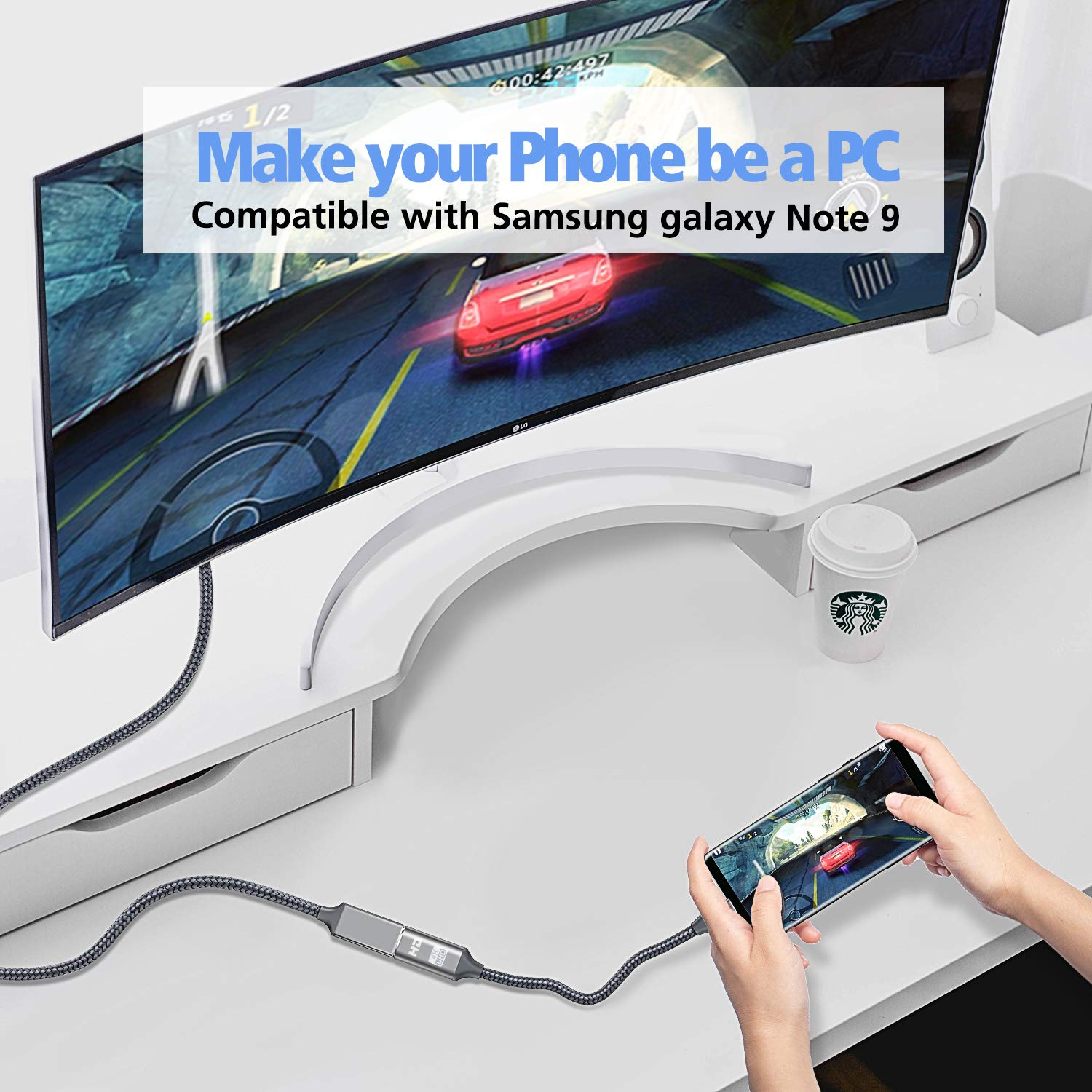 iMac Samsung Galaxy Note9//S9//S8 Gray USB C to HDMI Adapter Thunderbolt 3 Compatible MacBook Pro Dreamsea USB Type-C to HDMI Adapter Surface Book 2 Dell XPS 13//15 Chromebook Pixel 4K@60Hz