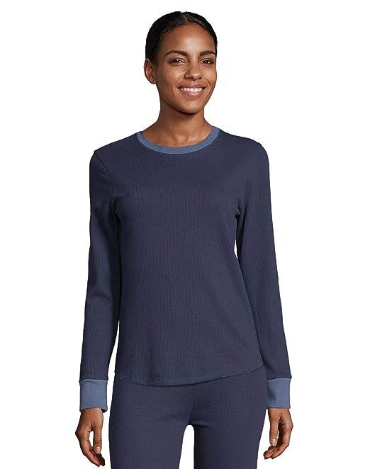 Hanes - Camiseta térmica - Liso - para Mujer: Amazon.es: Ropa y accesorios