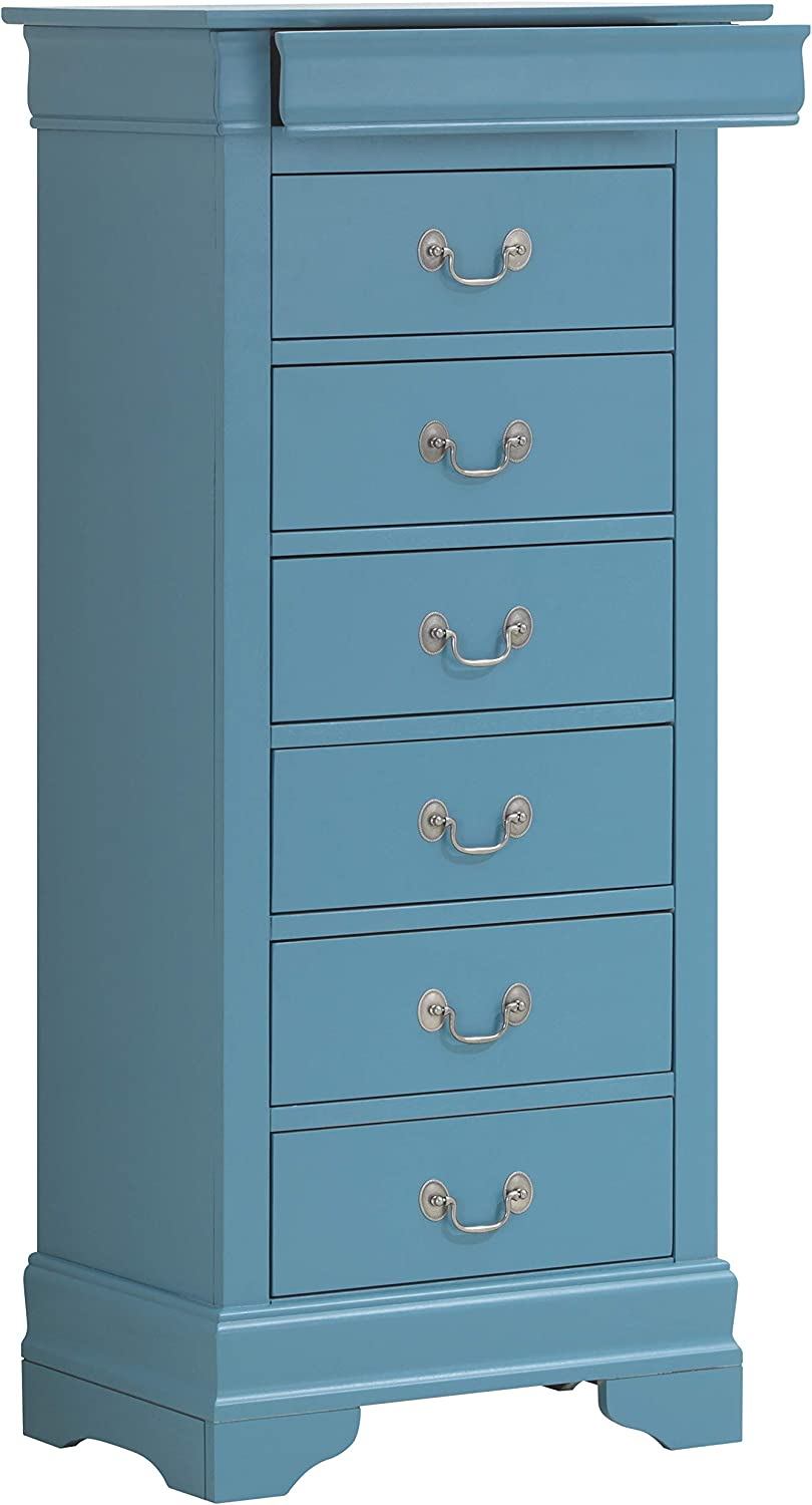 Glory Furniture Lingerie Chest, Teal