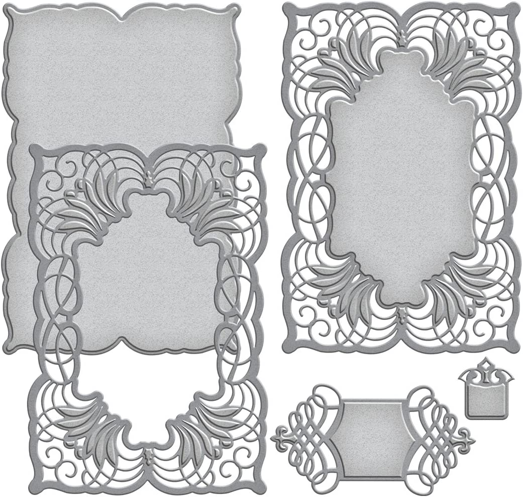 Spellbinders S6-045 Nestabilities Cascading Grace Etched/Wafer Thin Dies