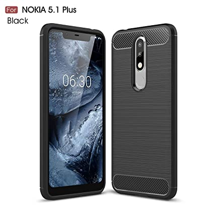 best service 96e46 e4130 REALIKE Nokia 5.1 Plus Back Cover, Ultimate Protection from Drops, Durable,  Anti Scratch Back Cover for Nokia 5.1 Plus (Black)