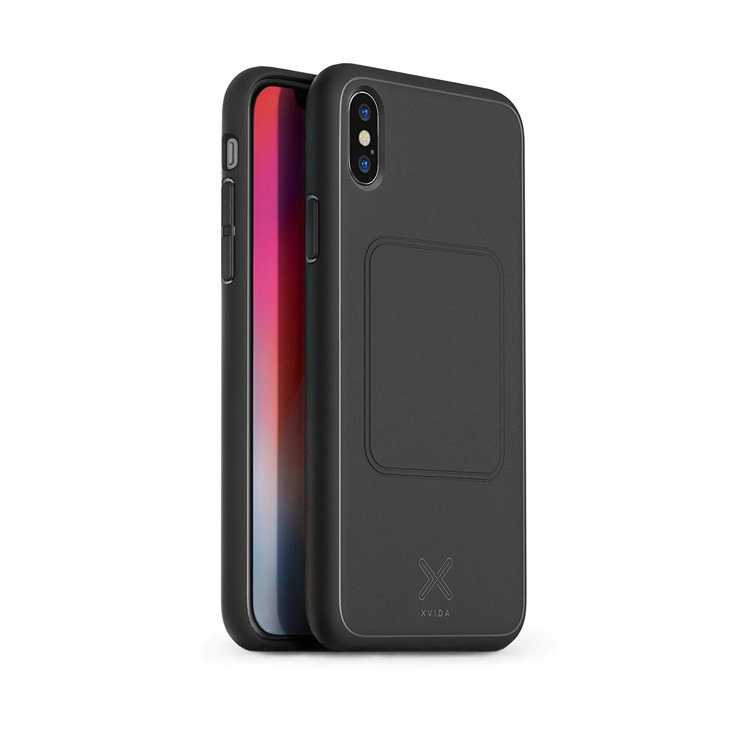 detailed look 8d557 237eb XVIDA iPhone X Magnetic Charging Case - Black