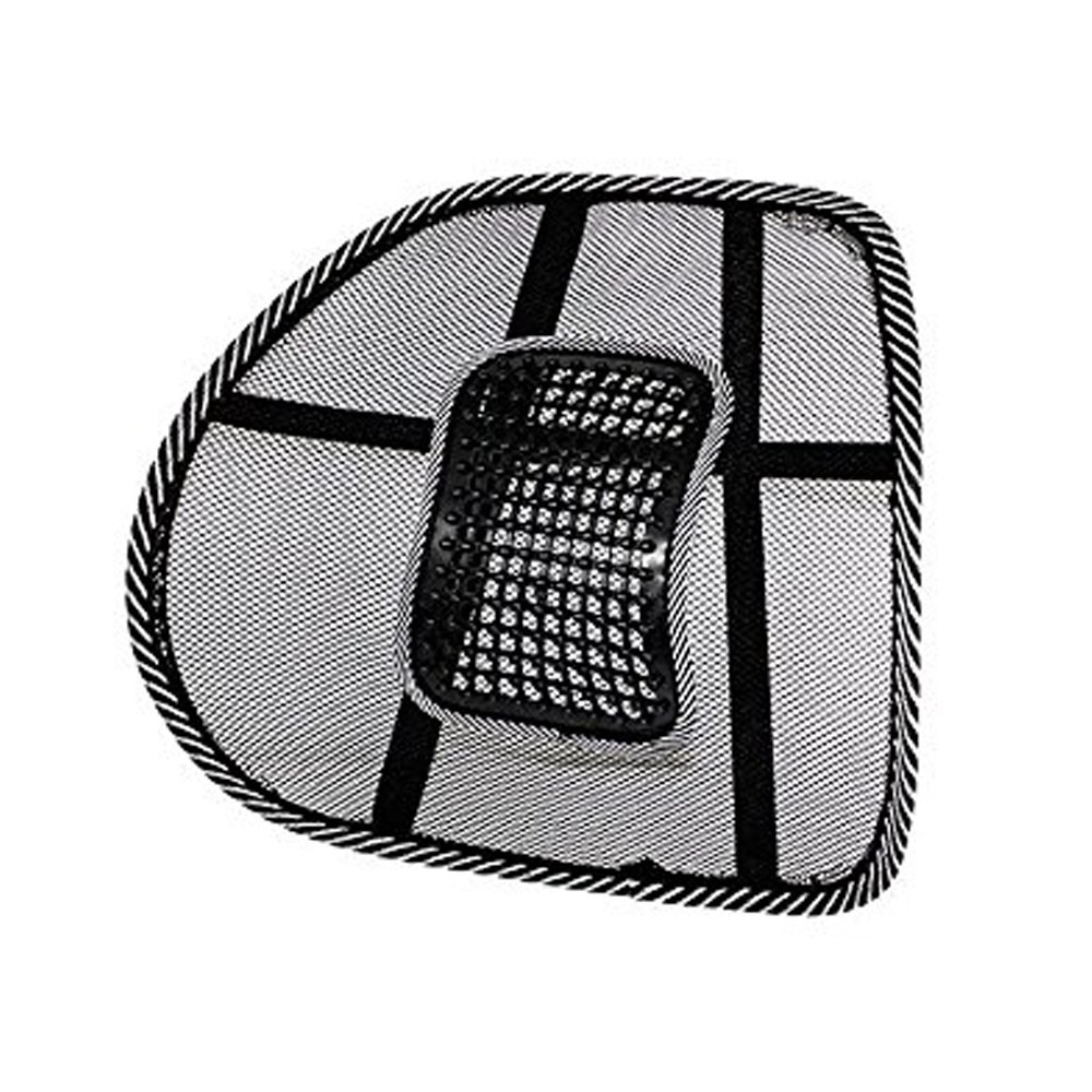 Rocita Mesh Back Lumbar Support Massage Beads for Car Seat Chair Massage Cushion 1206655xz02917electronic