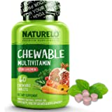 ناتوريلو متعددة الفيتامينات قابلة للمضغ للأطفال - مع الفيتامينات الطبيعية والمعادن الغذائية الكاملة، مستخلصات الفاكهة والخضروات العضوية - أفضل مكمل نباتي للأطفال - 60 قرص