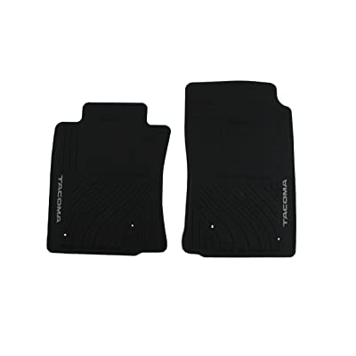 Genuine Toyota Accessories PT908-35000-02 Front All-Weather Floor Mat (Black), Set of 2: Automotive