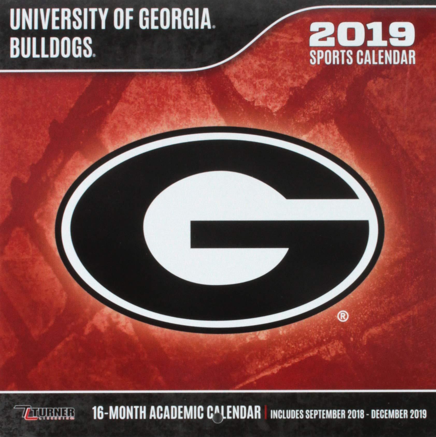 University Of Georgia Calendar 2019 University of Georgia Bulldogs 2019 Sports Calendar: Inc. Lang