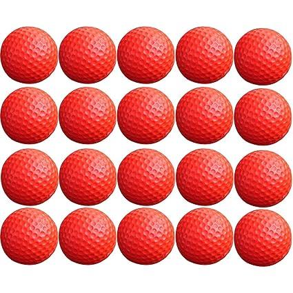 20 pelotas de golf, wolfbush espuma pelotas de práctica interior ayudas de entrenamiento de golf