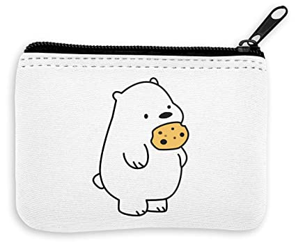 Ice Bear Eating Cookies Monedero de la Cremallera de la ...