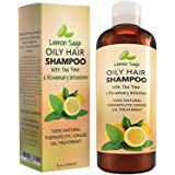 Volumizing Shampoo For Oily Hair - Vitamin Shampoo With Lemon Oil + Sage - Natural Hair Care - Thickening Balancing…